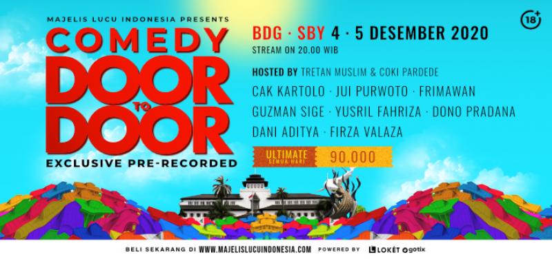 Comedy Door To Door Day Special Bandung  Surabaya - 2 Days Pass