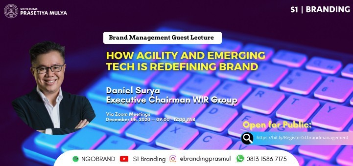 Brand Management Guest Lecture: How Agility and Emerging Tech is Redefining Brand