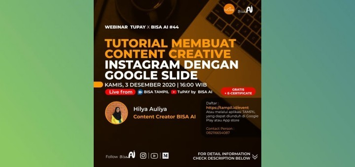 Tutorial Membuat Content Creative Instagram Dengan Google Slide