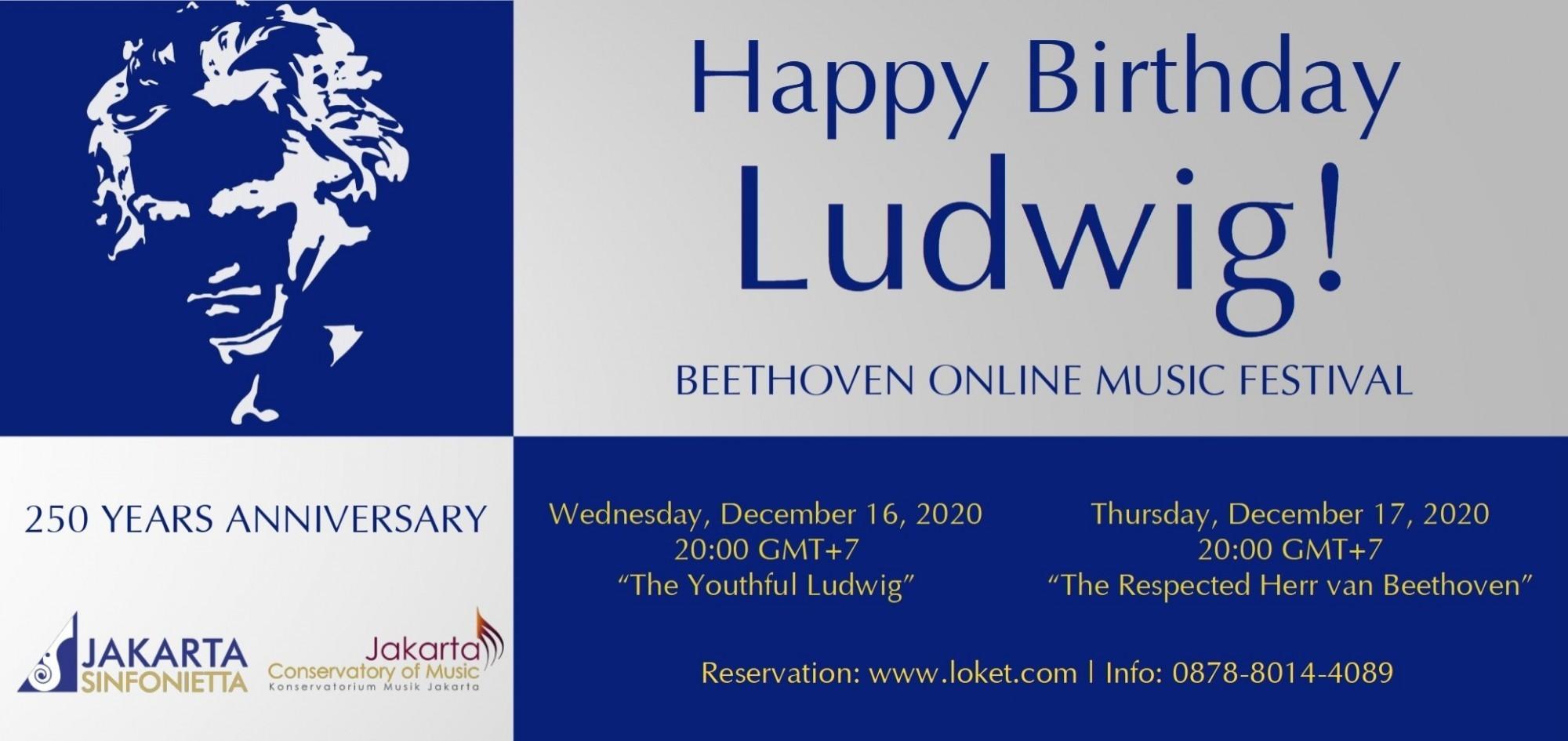 Happy Birthday Ludwig! 16-17 December 2020