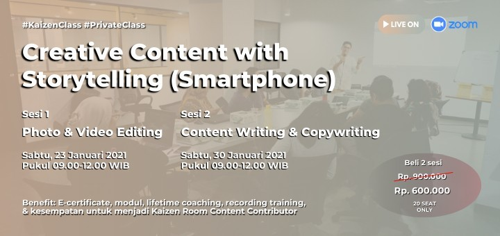 Online Class Photo & Video Editing - Content Writing & Copywriting