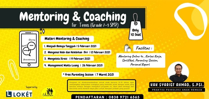 Mentoring & Coaching for Teens (Grade 7-9 SMP)