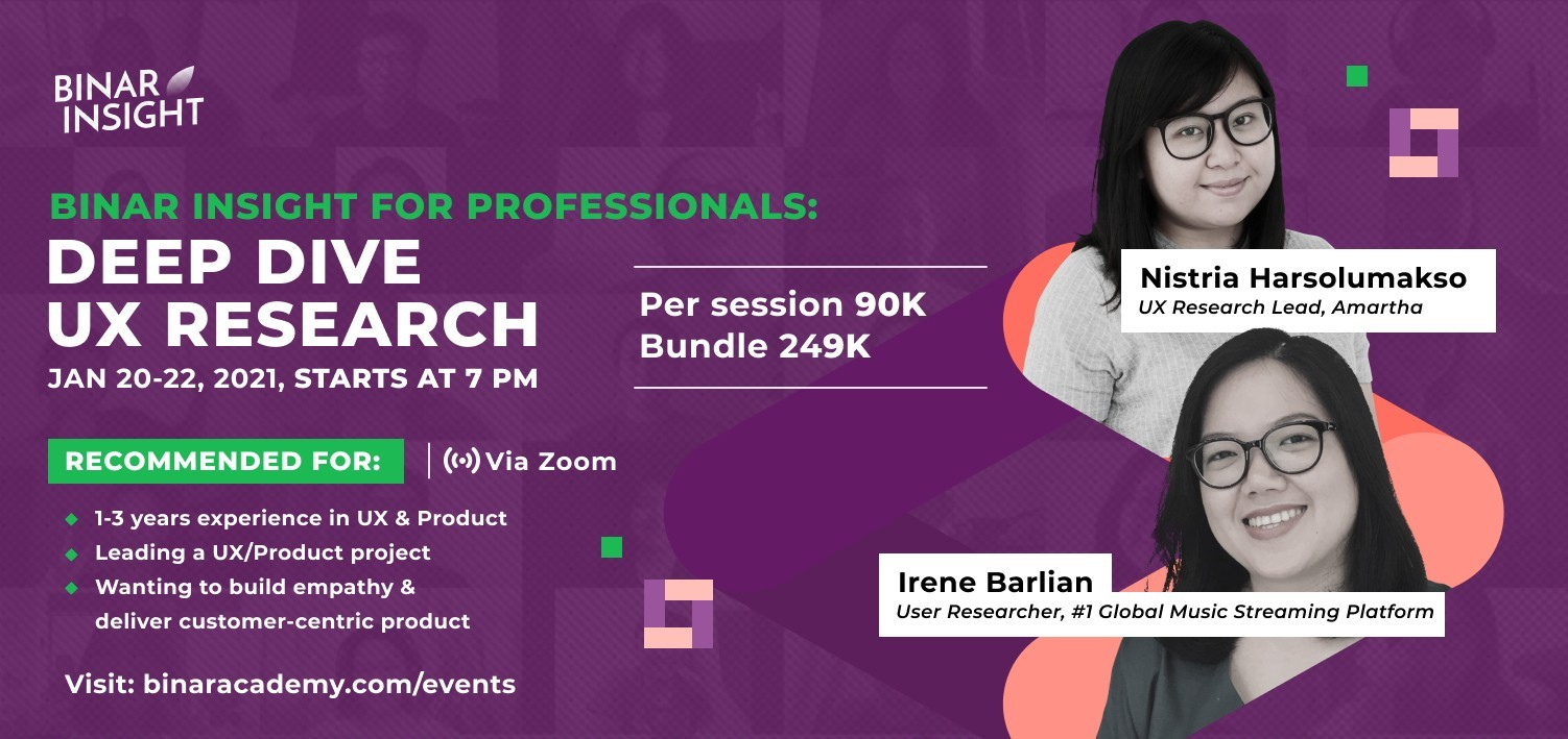 Binar Insight for Professionals: Deep Dive UX Research