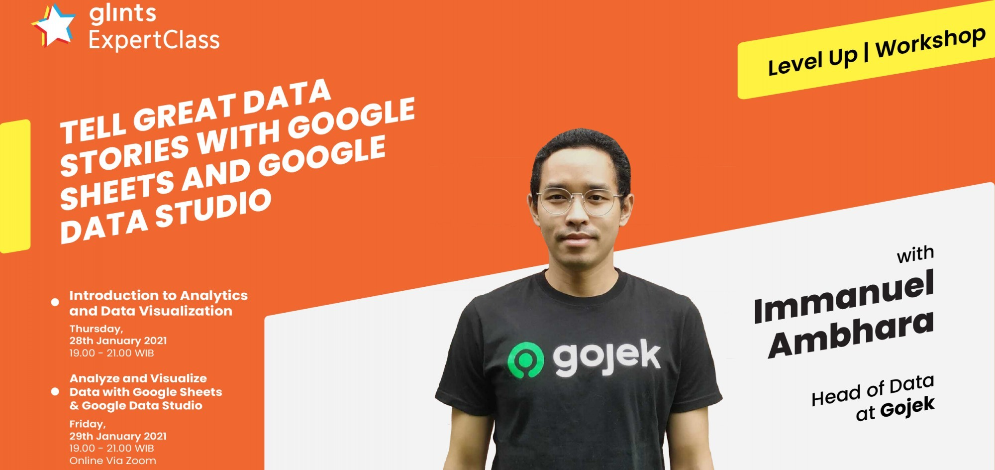 Data Analytics Workshop: Tell Great Data Stories With Google Sheets and Google Data Studio