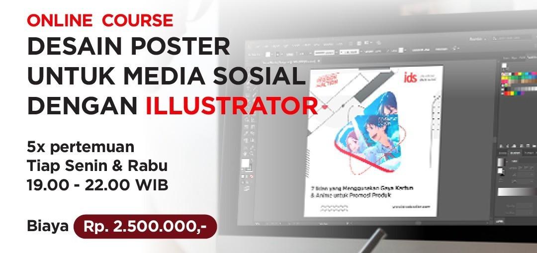 Online Course : Desain Poster untuk Sosial Media dengan Adobe Illustrator