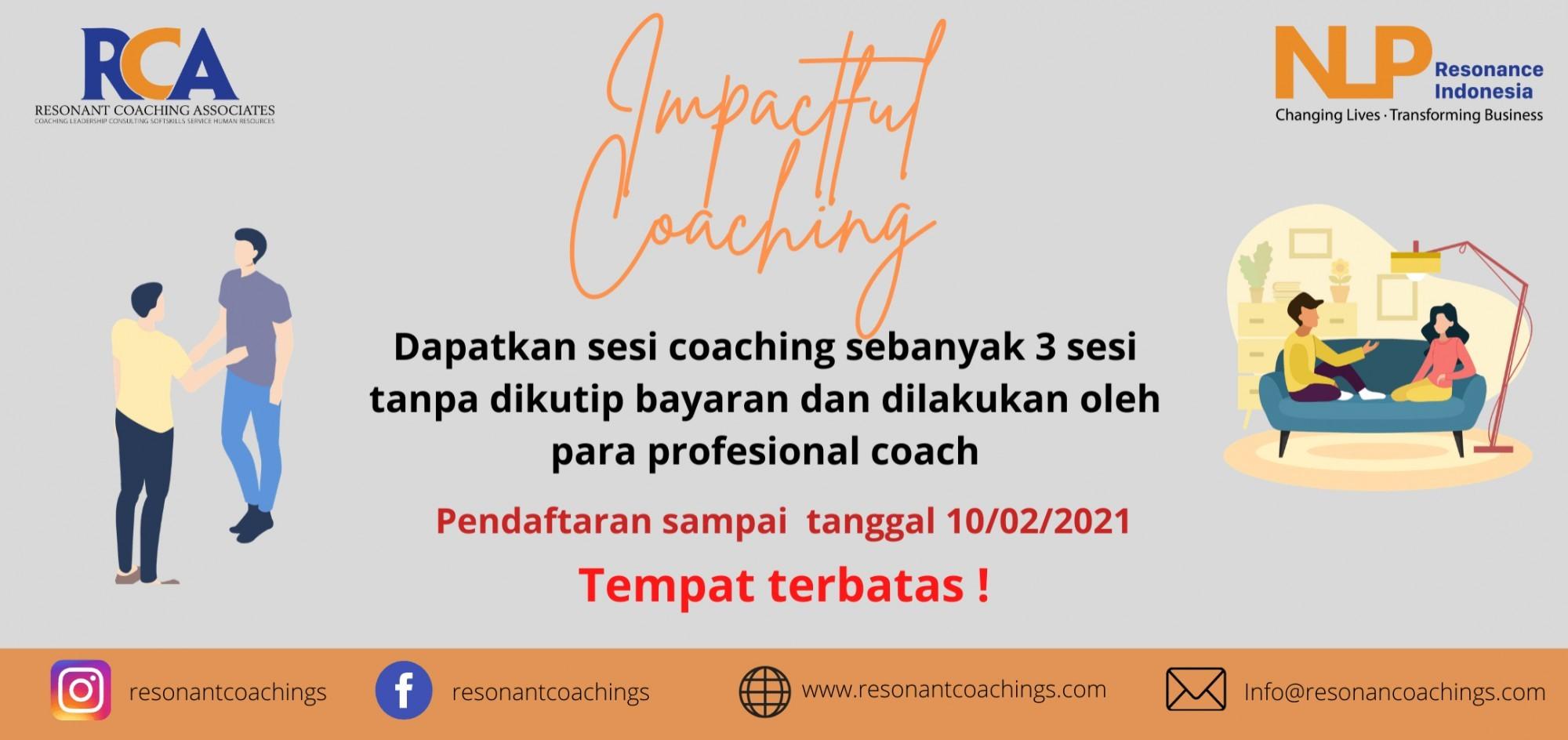 Sesi Coaching Gratis buat Public (Probono Coaching)
