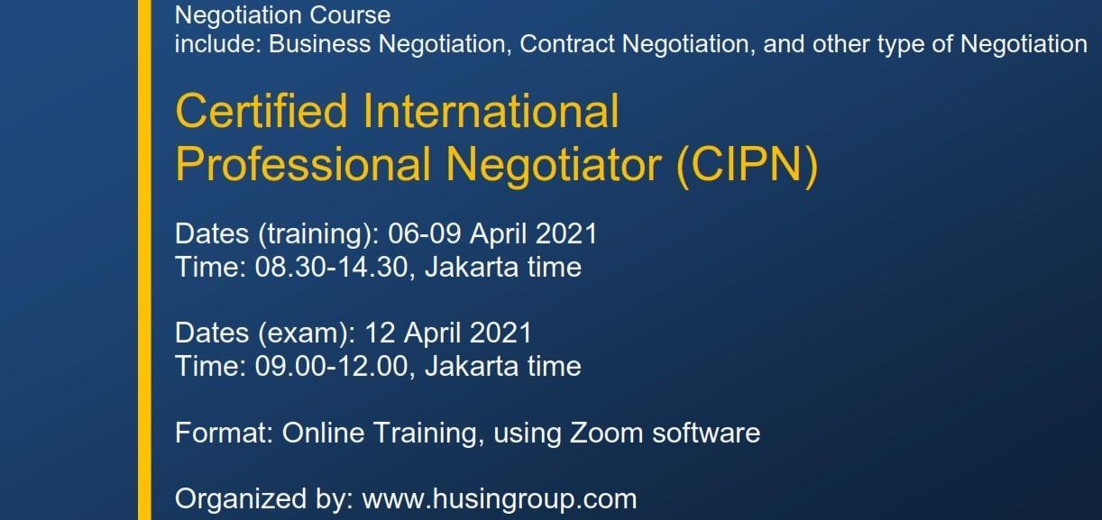 Certified International  Professional Negotiator (CIPN)