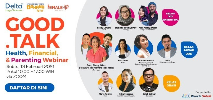 """Good Talk """"A Webinar with Health, Financial and Parenting Expert"""""""