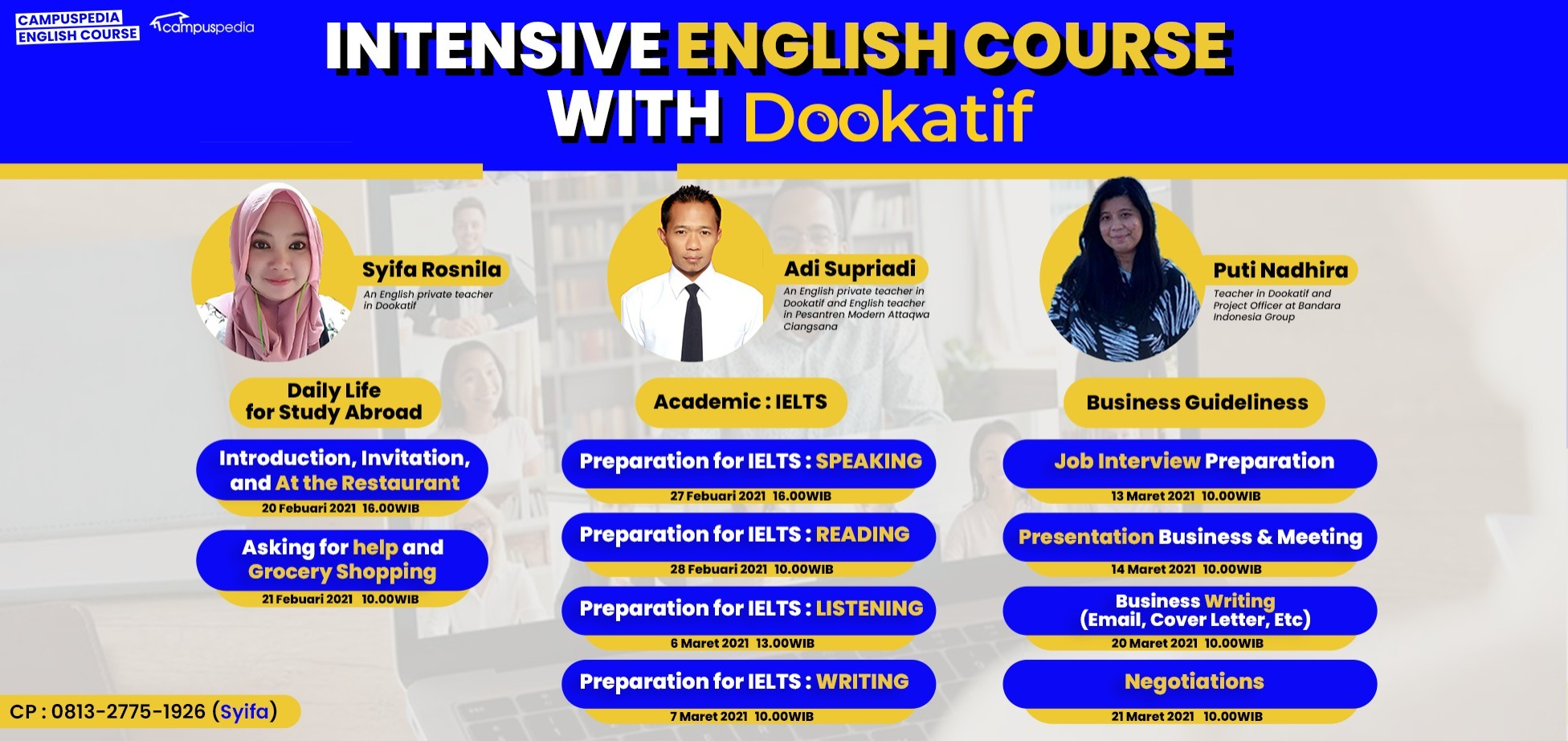 Intensive English Course with Dookatif