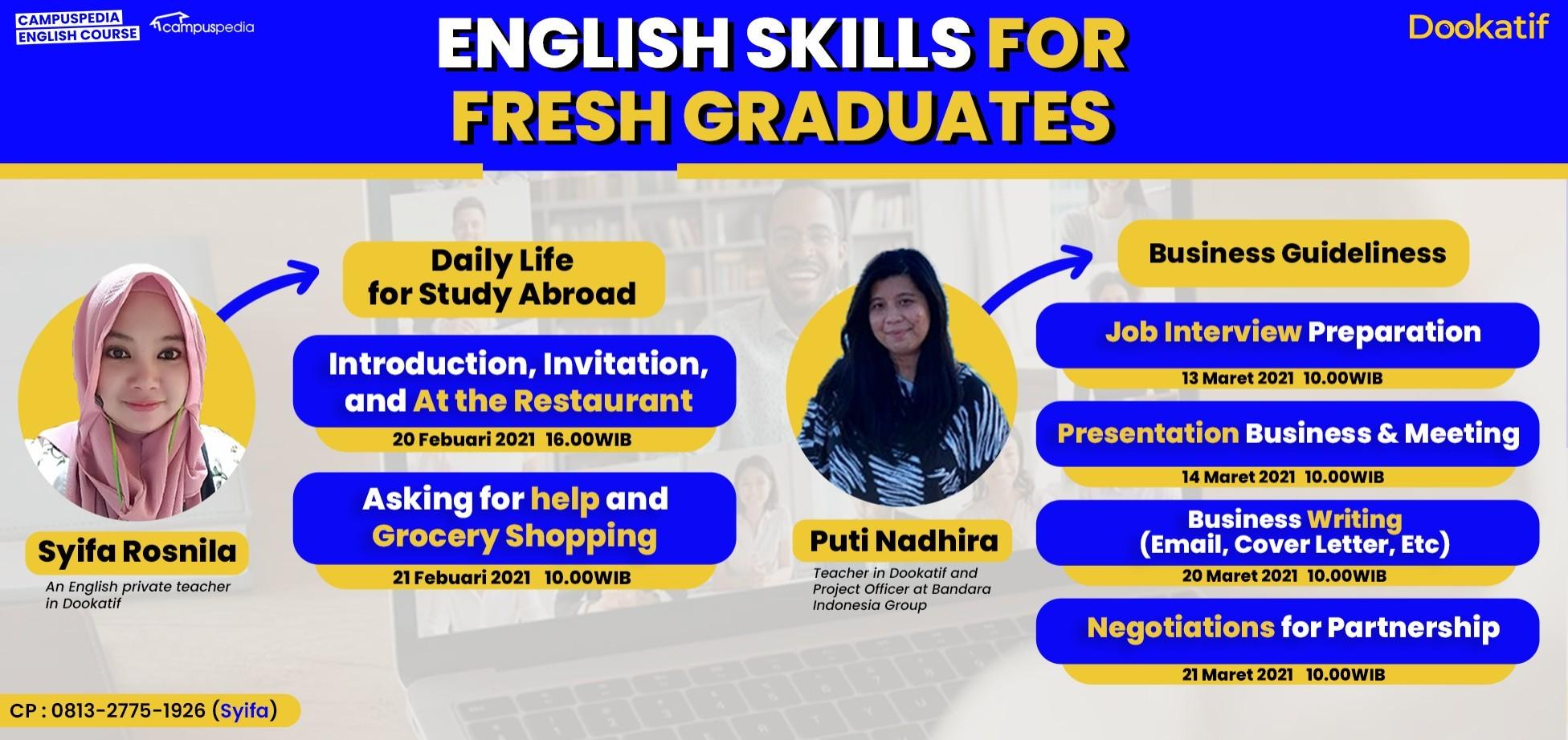 English Skills For Fresh Graduates