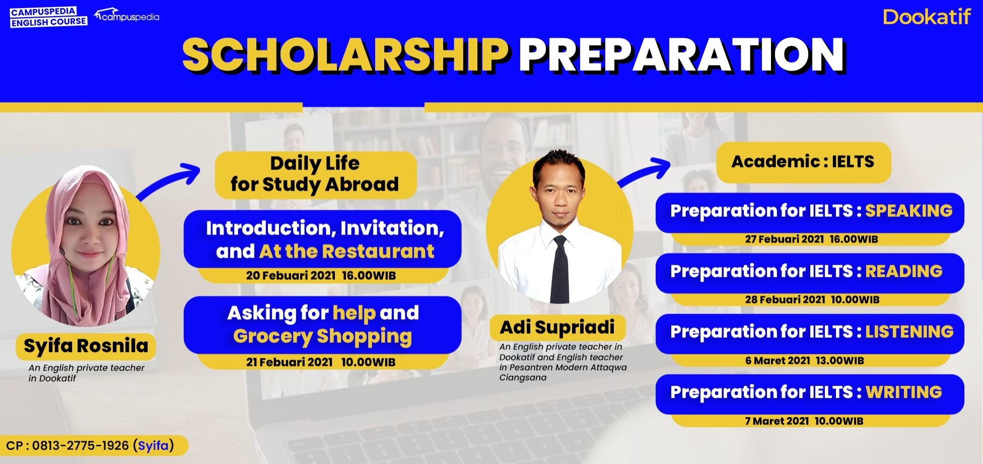 Scholarship Preparation