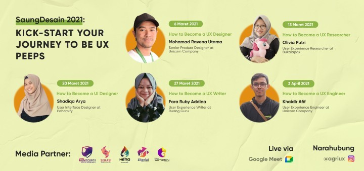 Saung Desain 2: Kick-start Your Journey to be UX Peeps