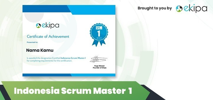 Ekipa Certification: Indonesia Scrum Master 1