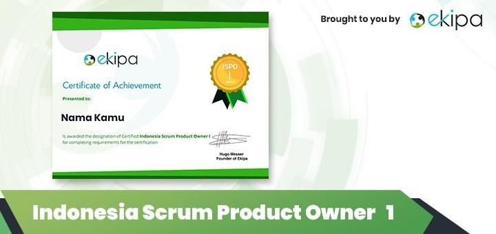 Ekipa Certification: Indonesia Scrum Product Owner 1