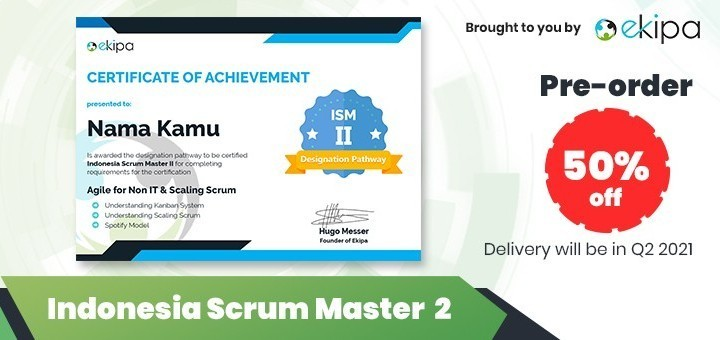 Ekipa Certification: Indonesia Scrum Master 2