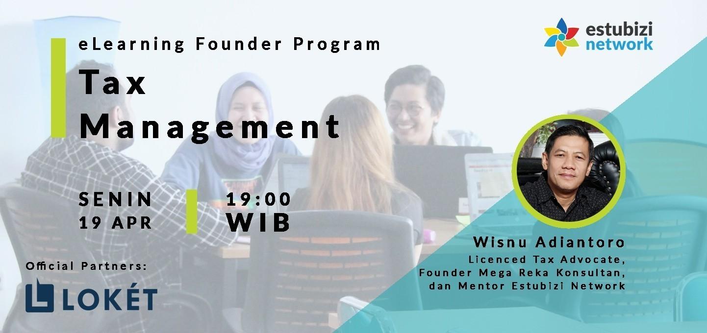 Founder Program: Tax Management