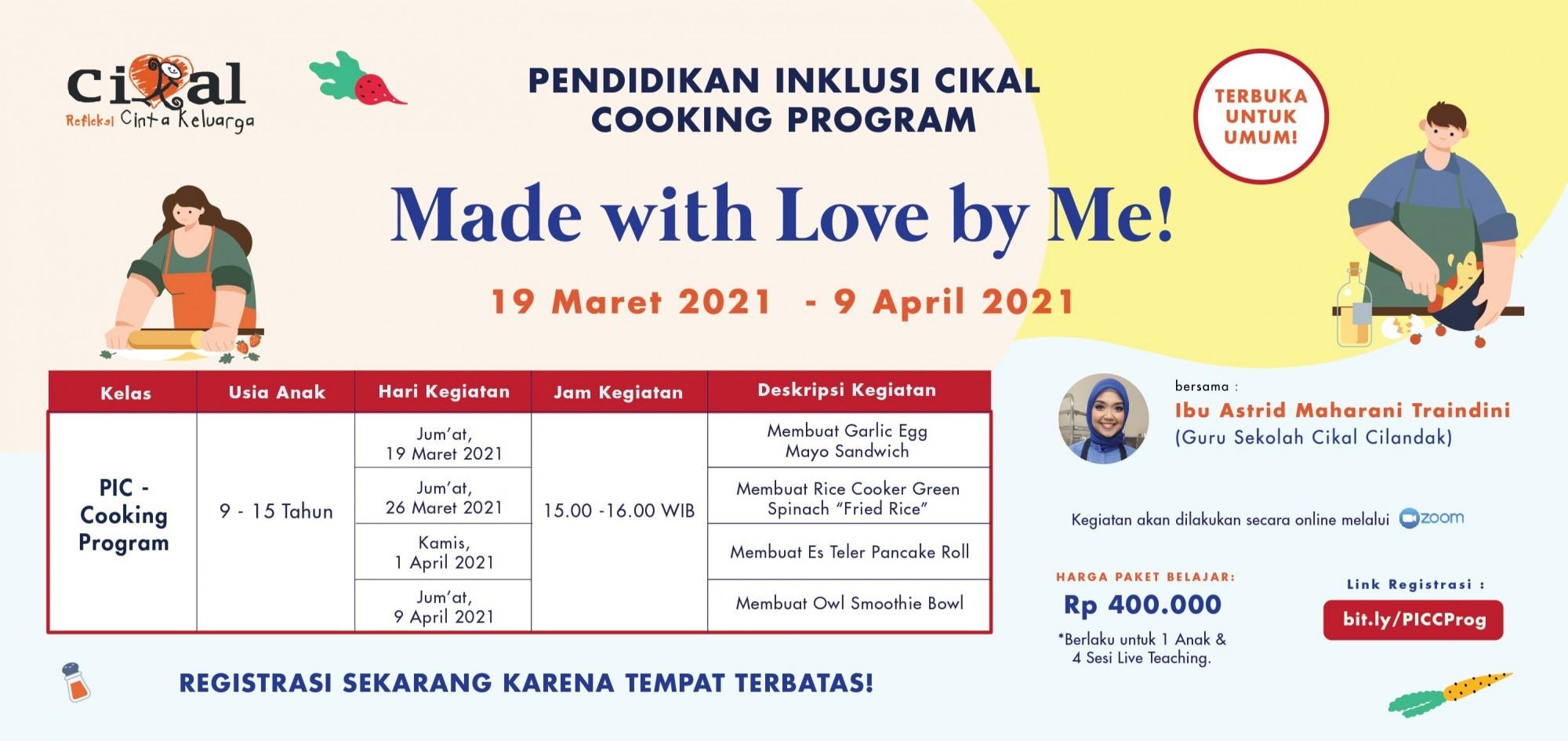 Pendidikan Inklusi Cikal - Cooking Program