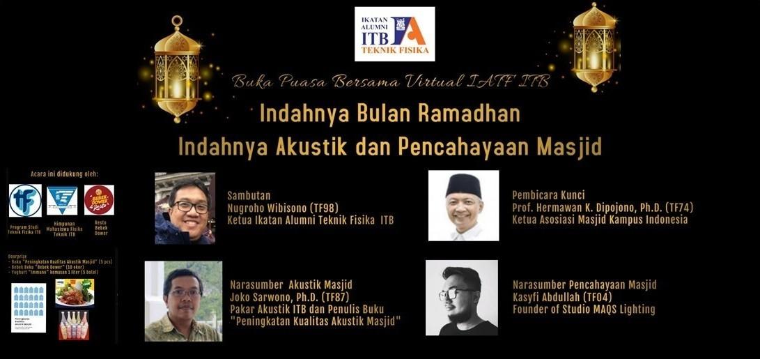 Buka Puasa Bersama Virtual IATF - Indahnya Bulan Ramadhan Indahnya Akustik dan Pencahayaan Masjid