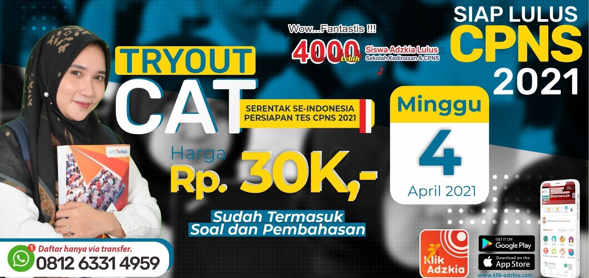 Jual Tiket TRY OUT CAT SERENTAK SE-INDONESIA PERSIAPAN TES ...