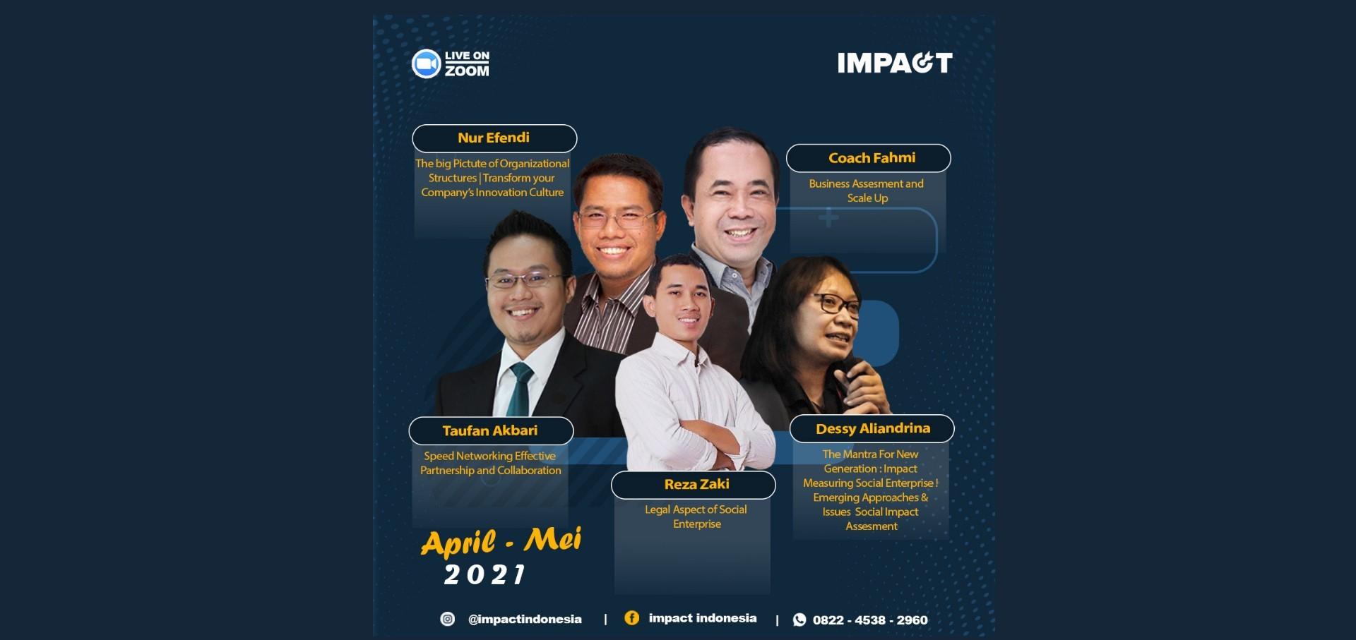 PEOPLE MANAGEMENT | SOCIOPRENEUR | START UP | WORKSHOP | IMPACT INDONESIA