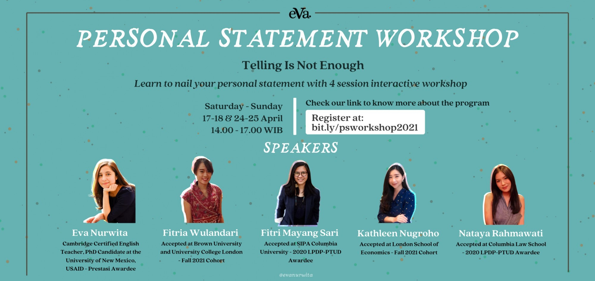 Personal Statement Workshop - Telling is Not Enough