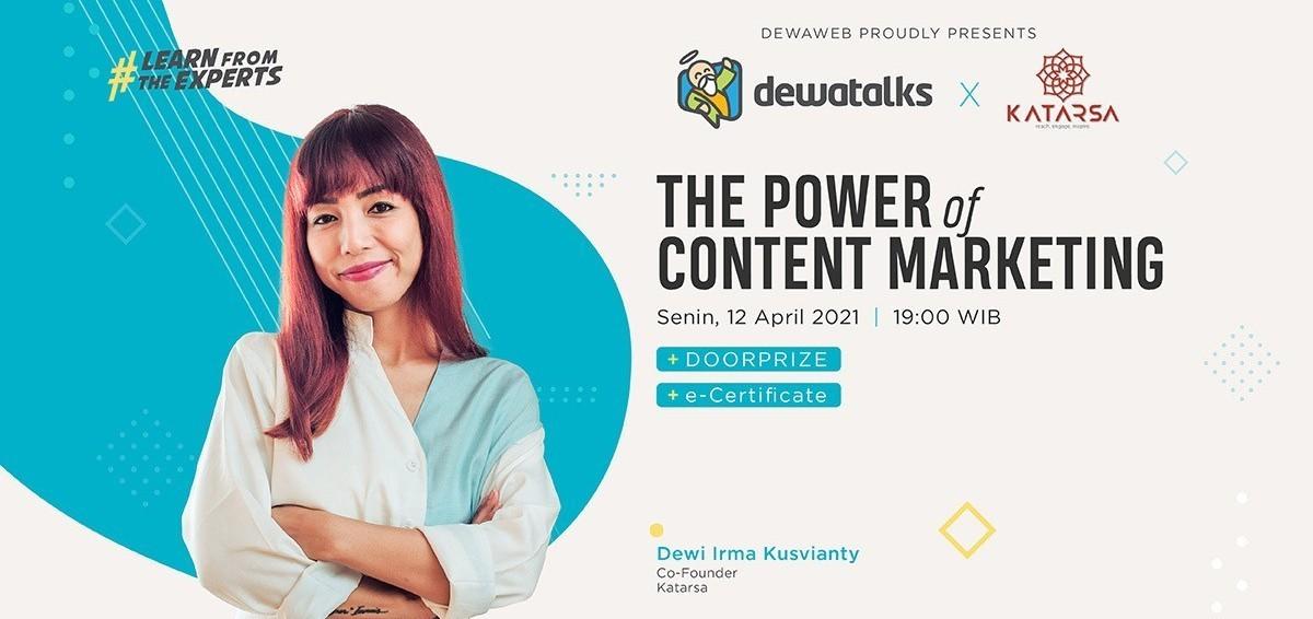 Dewatalks Webinar: The Power of Content Marketing