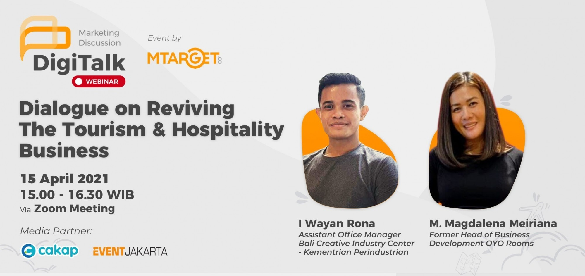 "Webinar """"Dialogue on Reviving The Tourism & Hospitality Business"""