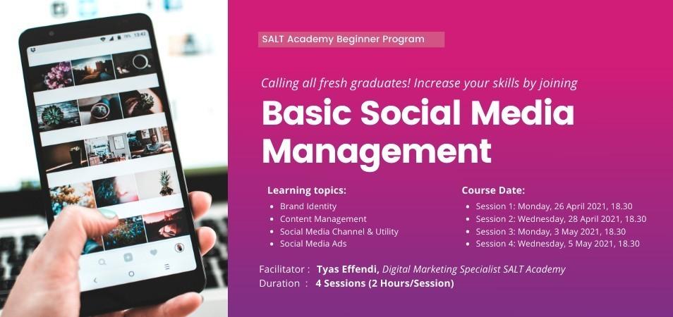 Beginner Program : Basic Social Media Marketing