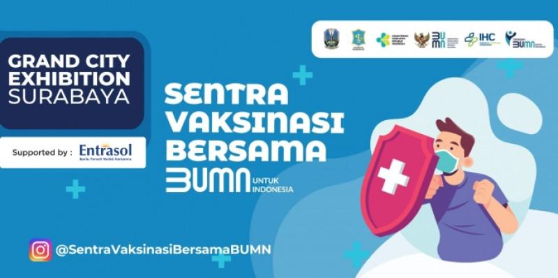 Vaksinasi Covid-19 untuk Lansia di Grand City Surabaya