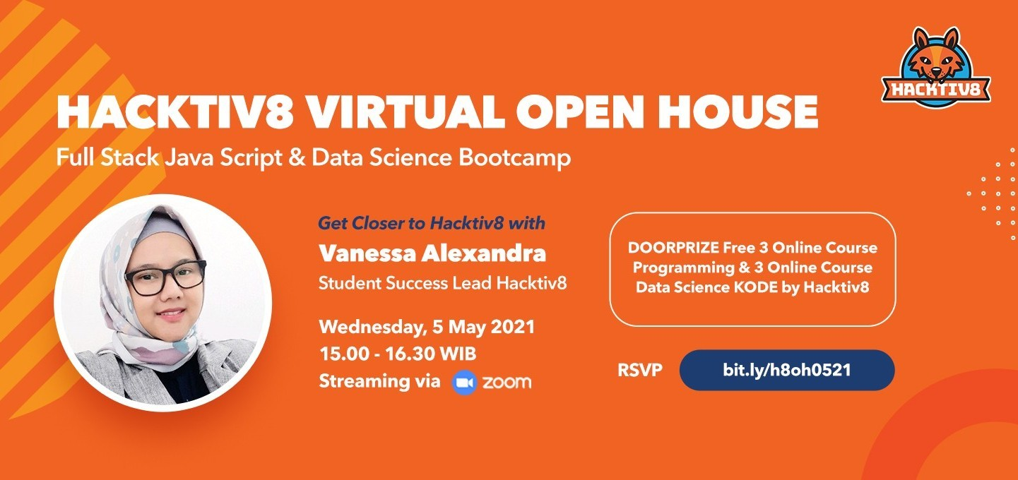 Hacktiv8 Virtual Open House: Full Stack Javascript & Data Science Bootcamp