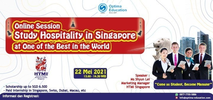 """Study Swiss Hospitality Management in Singapore. """" Come as Student, Become Manager"""""""