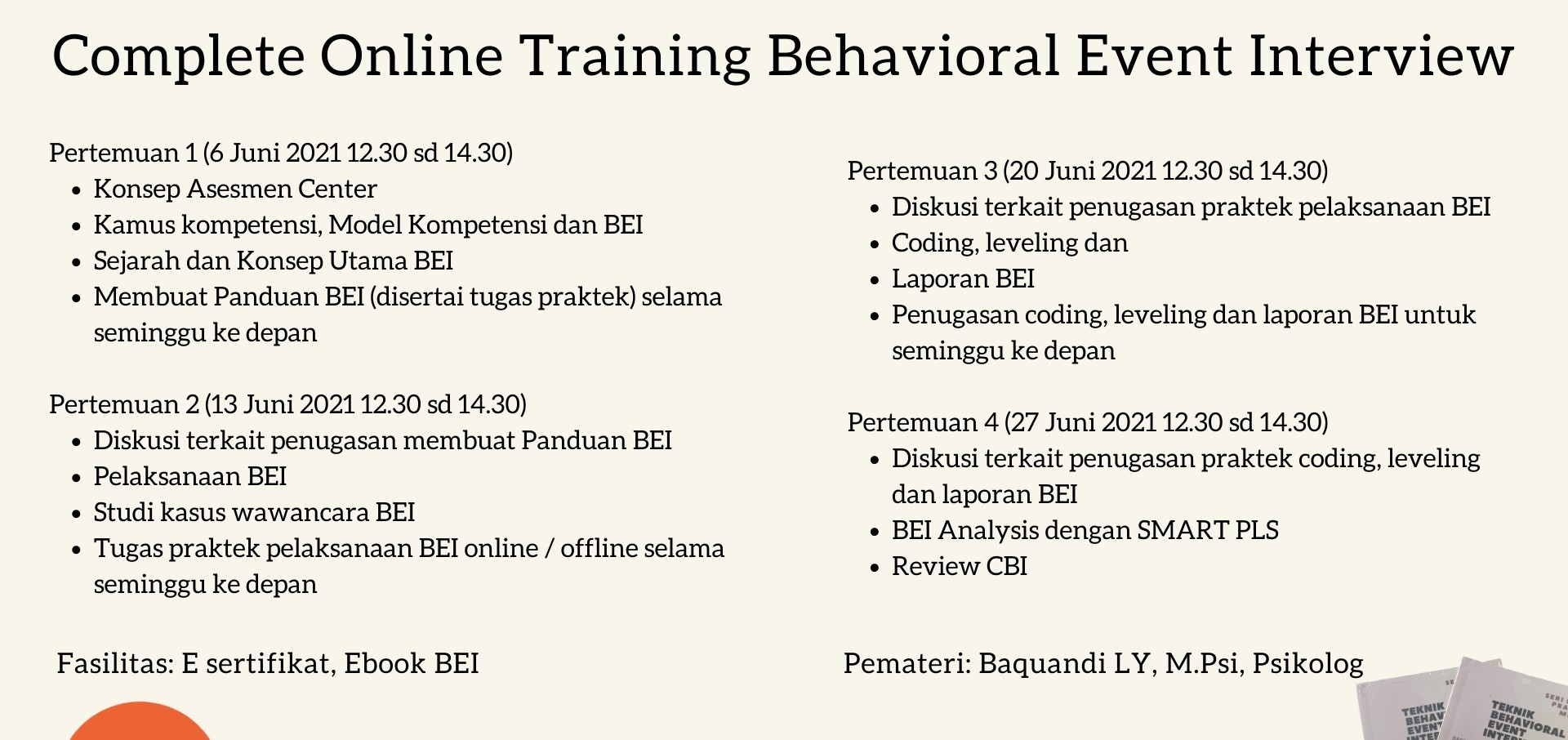 Complete Behavioral Event Interview Online Training