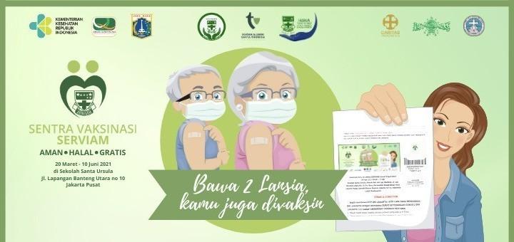 Program Vaksinasi 2-Plus-1 di Sentra SERVIAM Selasa 18 Mei 2021
