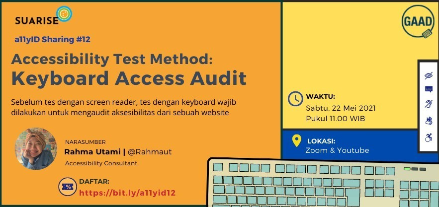 A11yID 12 Accessibility Test Method: Keyboard Access Audit (GAAD Special with Prize)