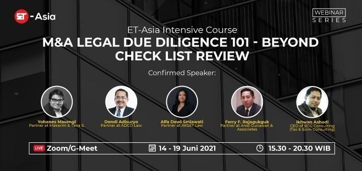 [ET-Asia] M&A Legal Due DIligence 101 - Beyond Check List Review