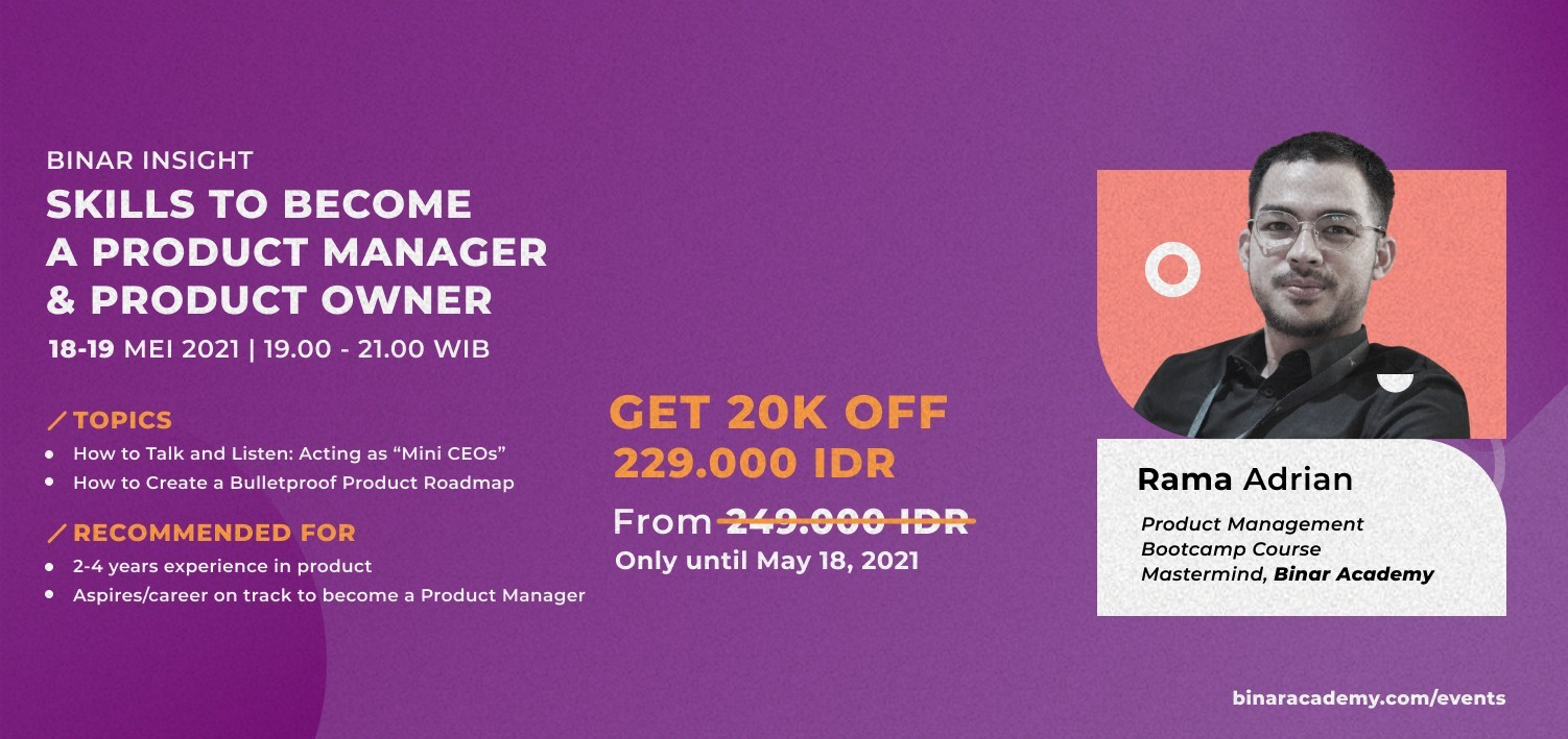 Binar Insight: SKILLS TO BECOME A PRODUCT MANAGER & PRODUCT OWNER