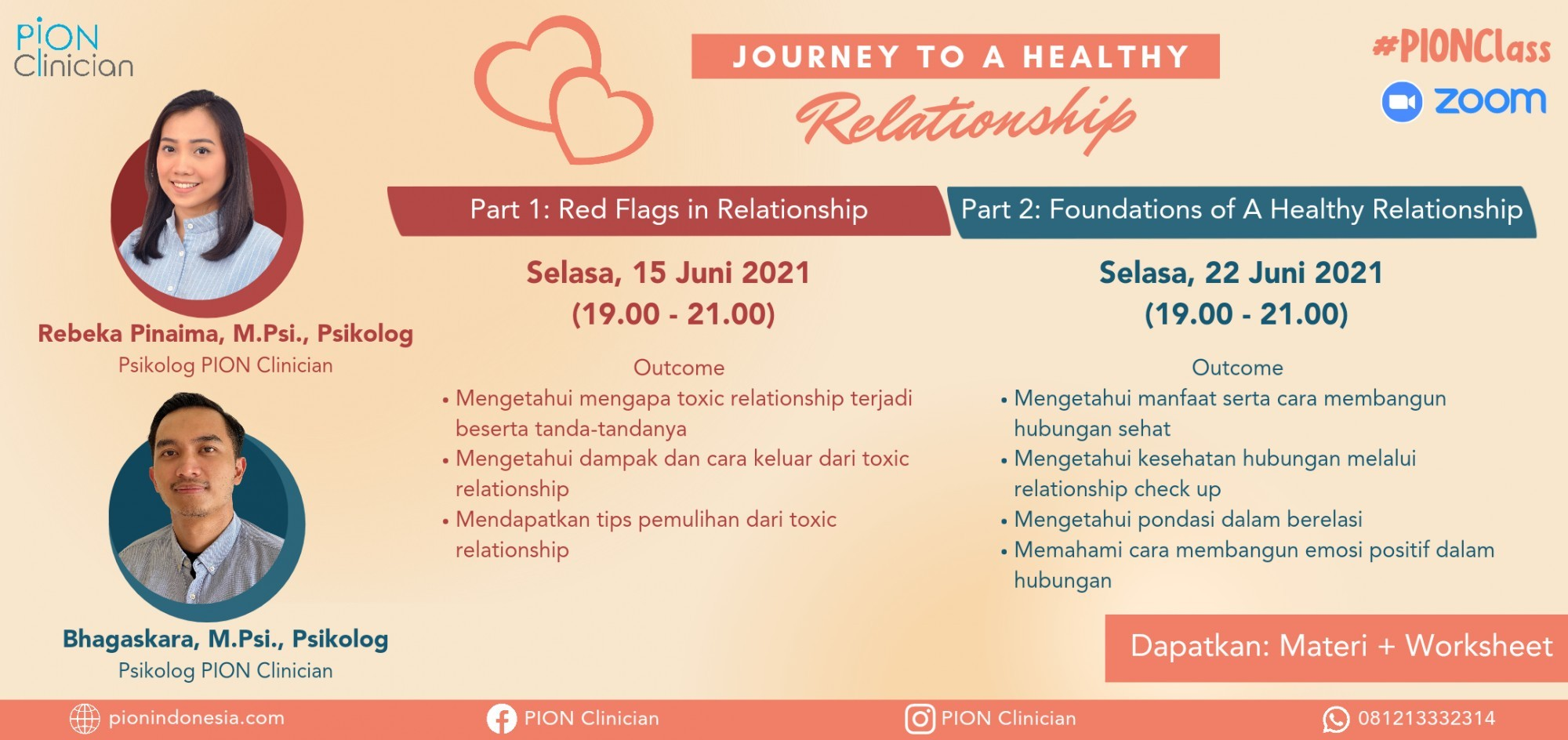 """#PIONClass """"Journey to A Healthy Relationship"""""""