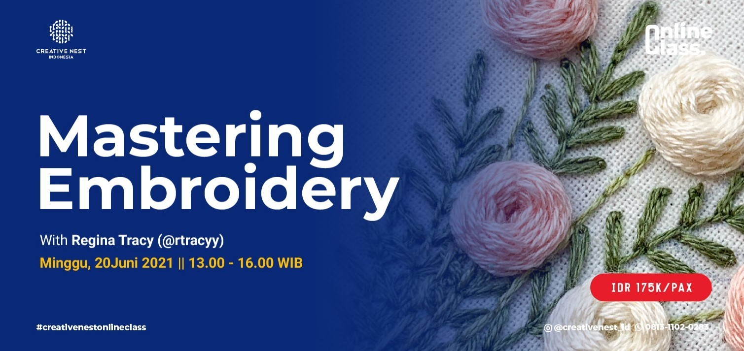 Mastering Embroidery with Regina Tracy (@rtracyy)