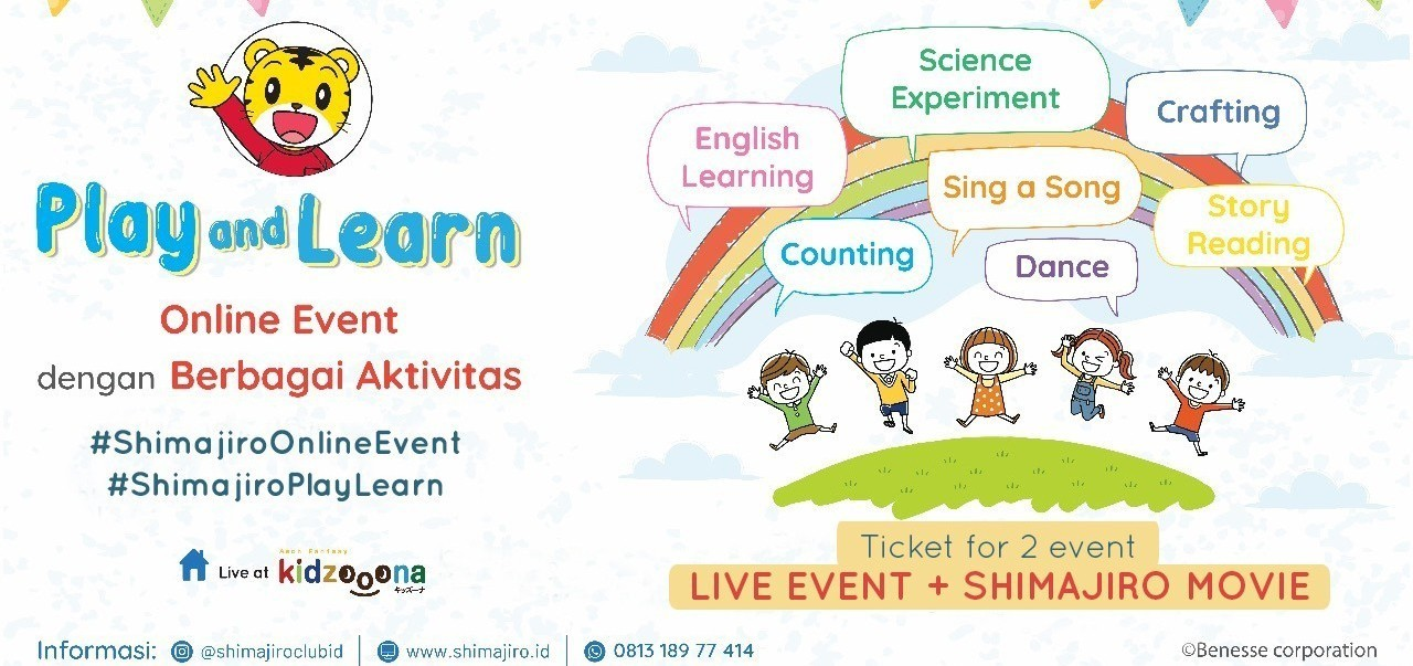 Shimajiro Play and Learn 10 juli (Bundling 2 events: Movie & Live Event)