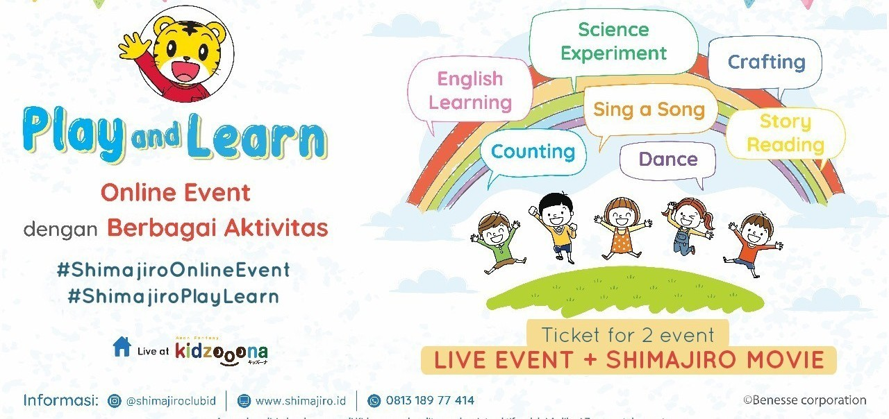 Shimajiro Play and Learn 11 Juli (Bundling 2 events: Movie & Live Event)