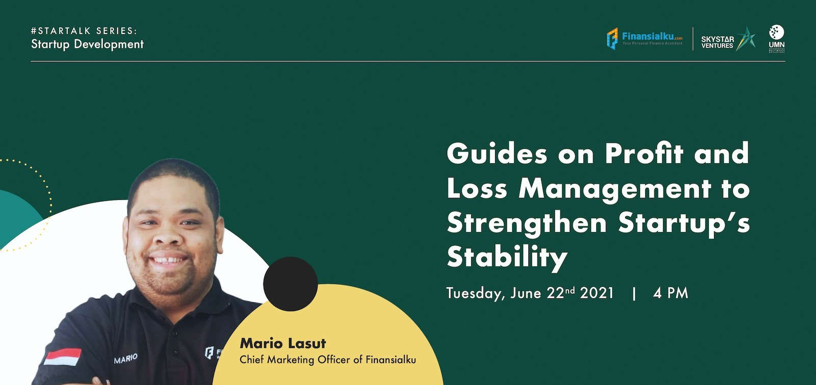 STARTALK - Guides on Profit and Loss Management to Strengthen Startup's Stability