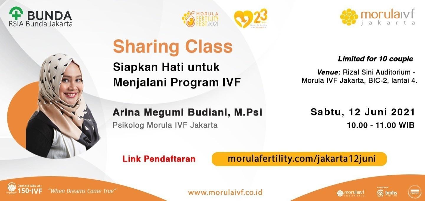 Morula Sharing Class Bersama Arina Megumi Budiani, M.Psi
