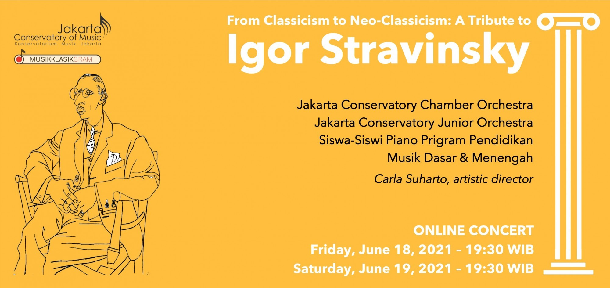 JCoM: Tribute to Igor Stravinsky - JCCO dan JCJrO (18 June 2021)