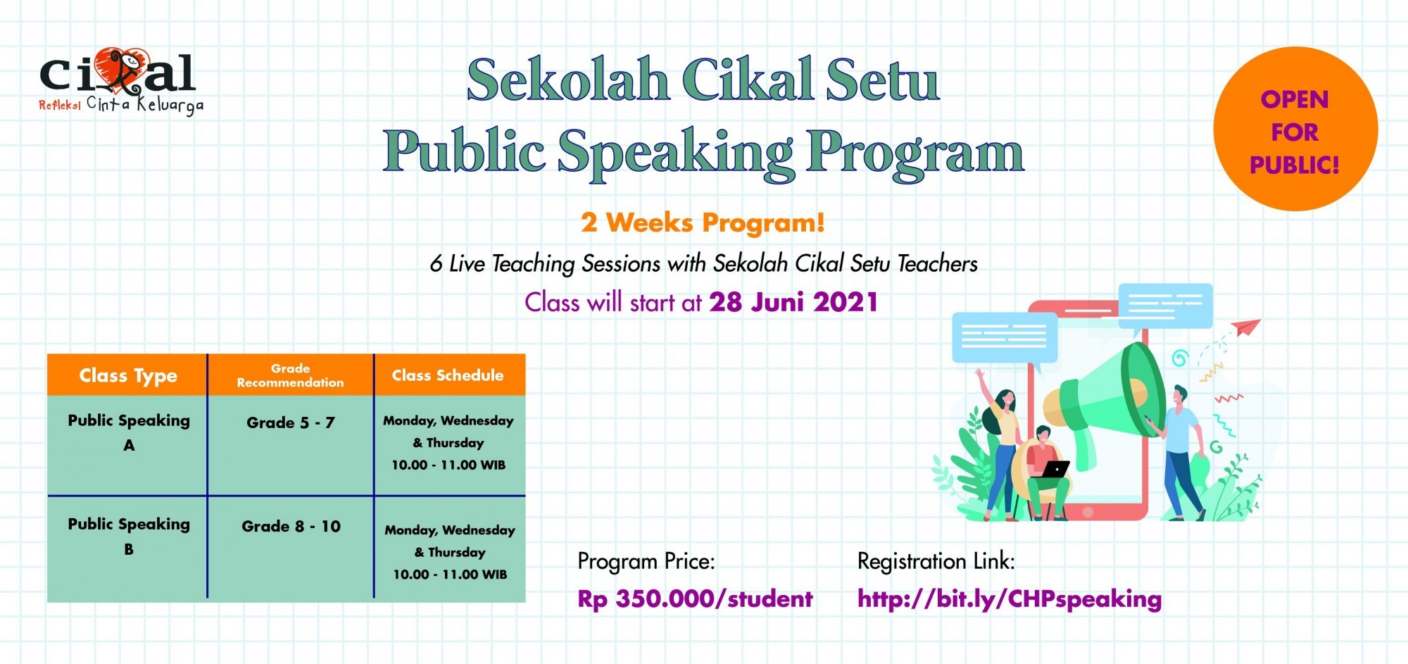 Cikal Holiday Program: Public Speaking