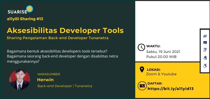 A11yID 13: Sharing Tools yang Digunakan Sehari-hari BackEnd Developer Tunanetra