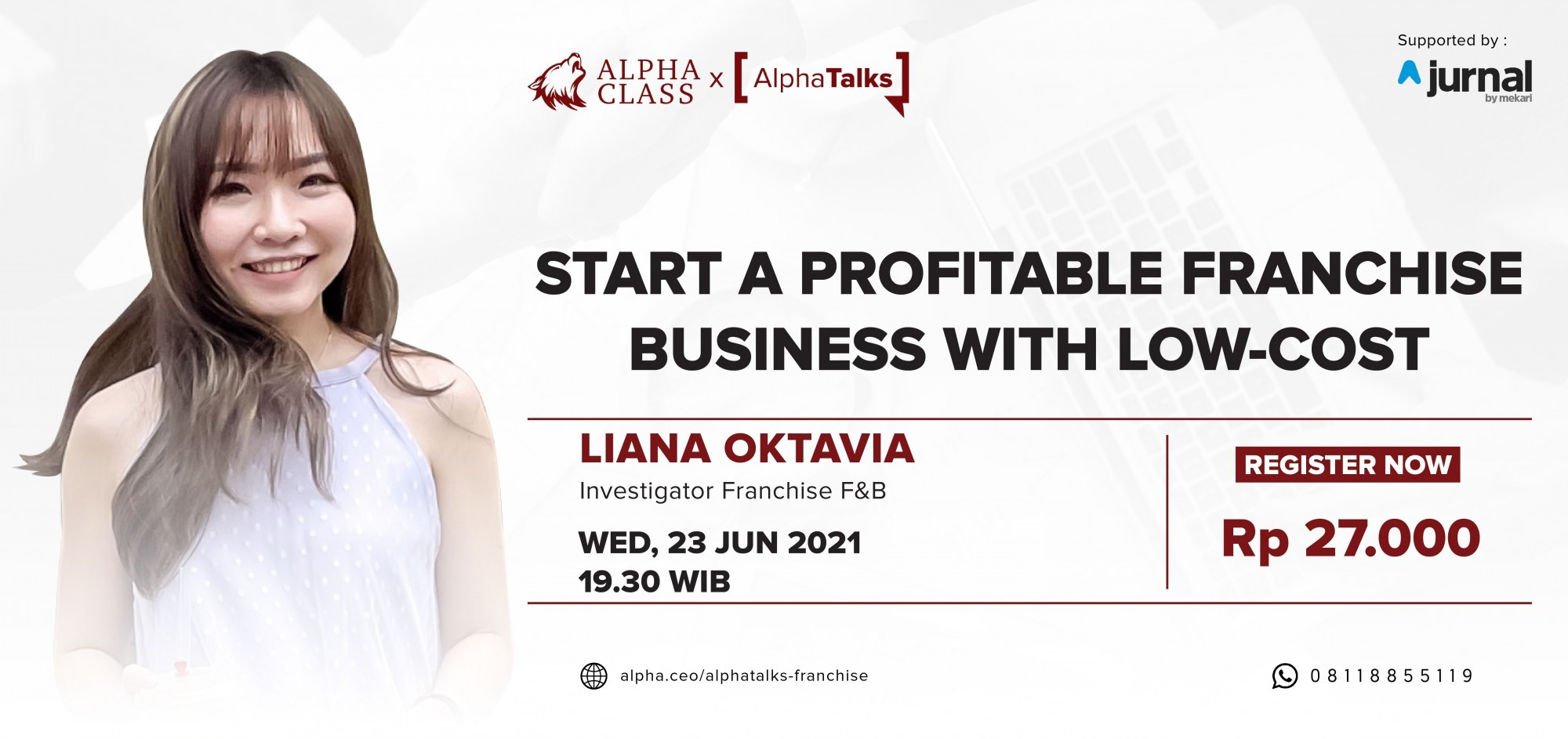 ALPHA TALKS: Start A Profitabable Franchise Business With Low-Cost