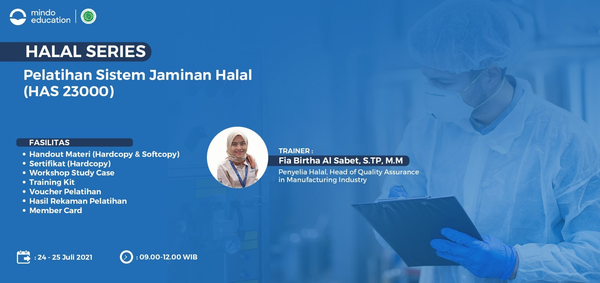 ONLINE TRAINING - Pelatihan Sistem Jaminan Halal (HAS 23000)