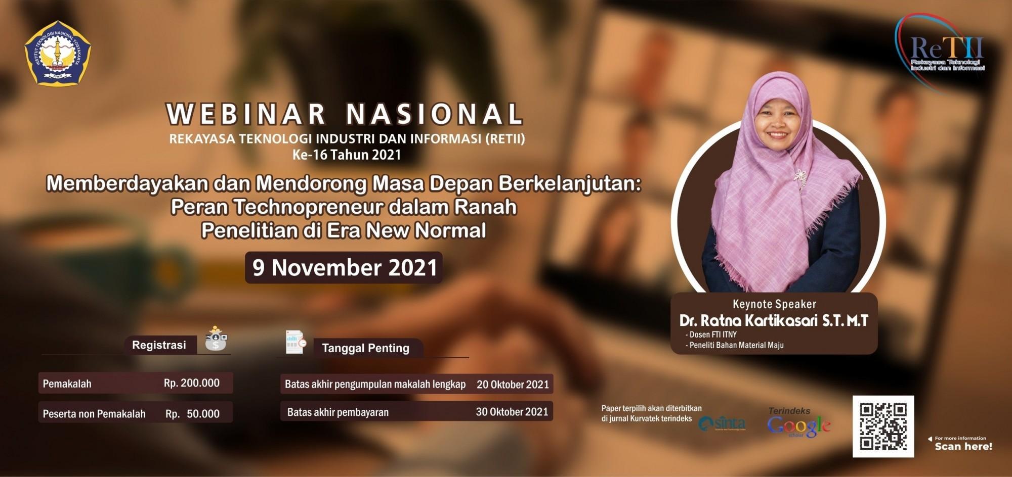 Seminar Nasional ReTII ke-16 [WEBINAR] 2021