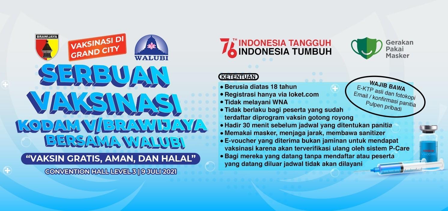 Serbuan Vaksinasi TNI bersama Walubi - 9 Juli 2021
