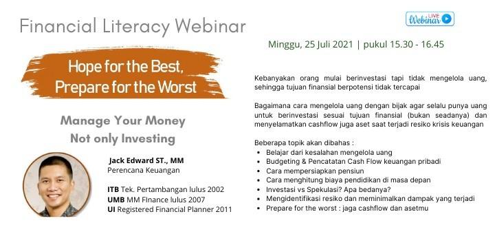 Kelas Literasi Finansial : Manage Your Money, not only Investing